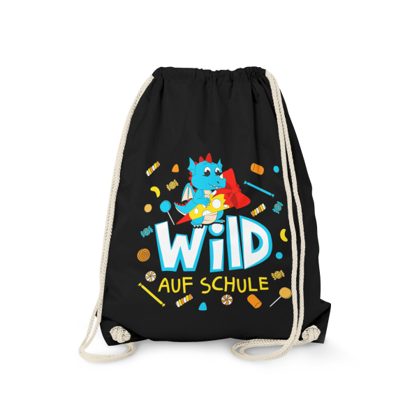 Wild auf Schule - Drache - Turnbeutel