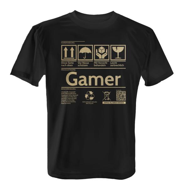 Etikett - Gamer - Herren T-Shirt