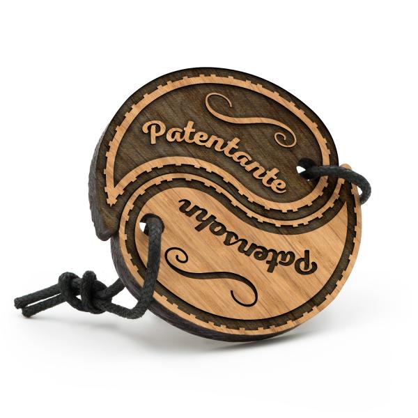 Patentante und Patensohn - Schlüsselanhänger Yin Yang