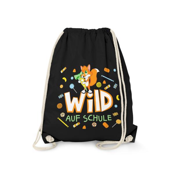 Wild auf Schule - Fuchs - Turnbeutel