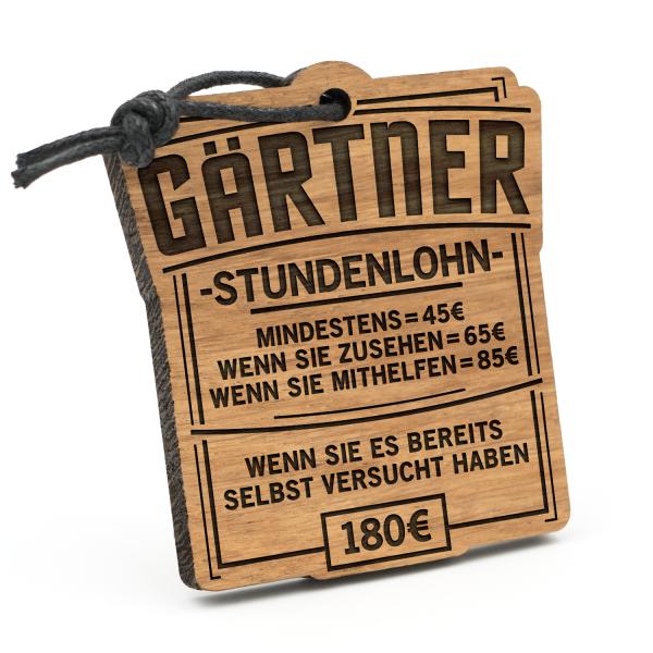 Stundenlohn Gärtner - Schlüsselanhänger