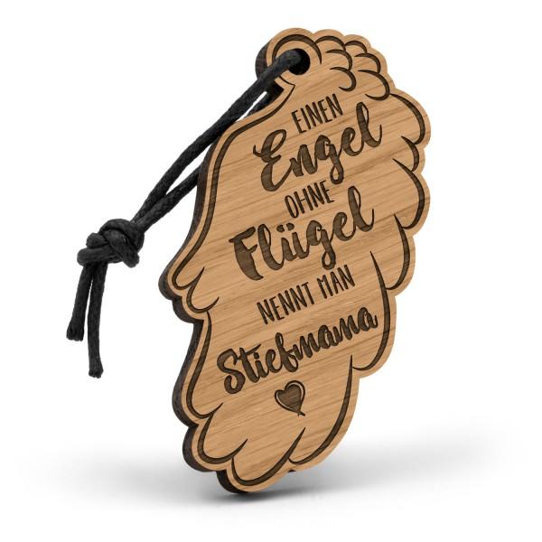 Einen Engel ohne Flügel nennt man Stiefmama - Schlüsselanhänger