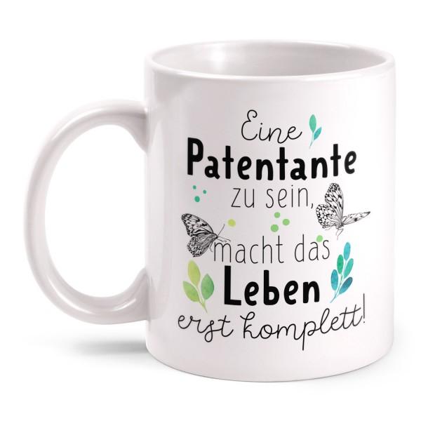 Eine Patentante zu sein, macht das Leben erst komplett! - Tasse