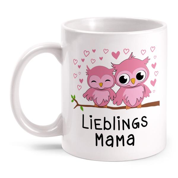 Eulen Lieblingsmama - Tasse