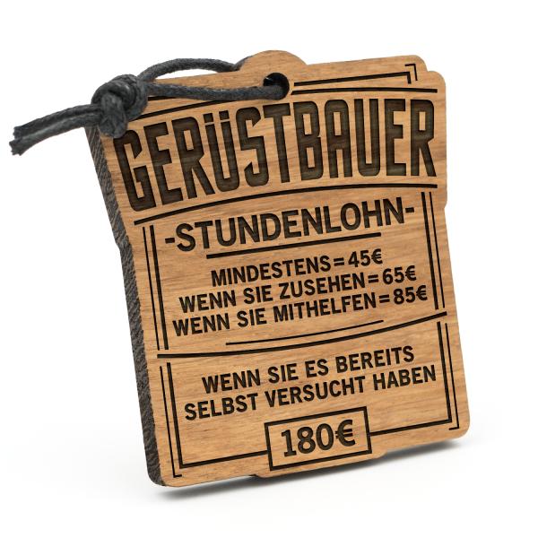 Stundenlohn Gerüstbauer - Schlüsselanhänger