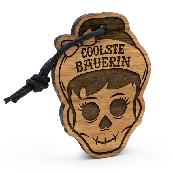 Coolste Bäuerin - Schlüsselanhänger Totenkopf