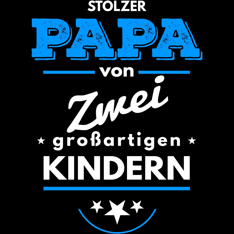 Stolzer Papa 2 Kinder Herren Kapuzenpullover Männer Hoodie Geburtstag Geschenk