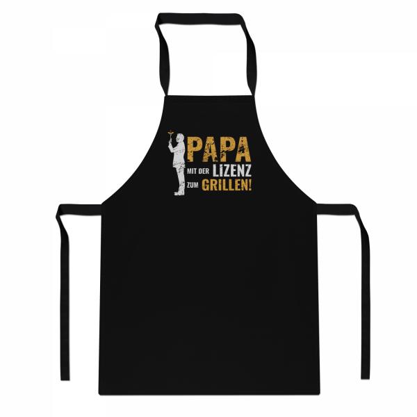 Papa Mit der Lizenz zum Grillen - Schürze