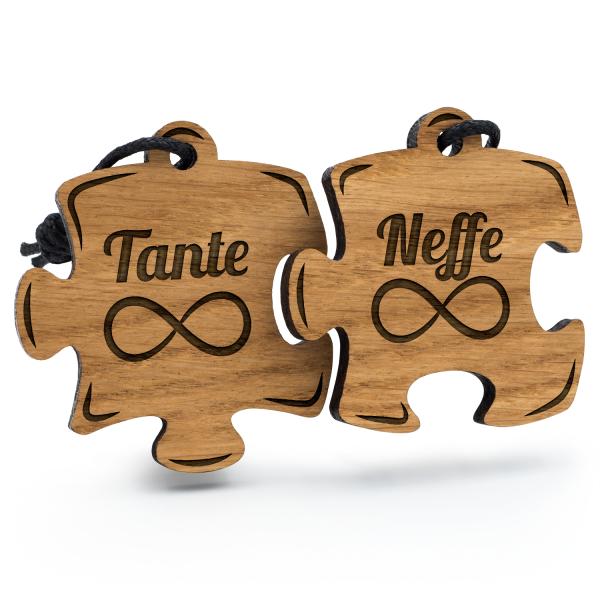 Tante und Neffe - Schlüsselanhänger Puzzle