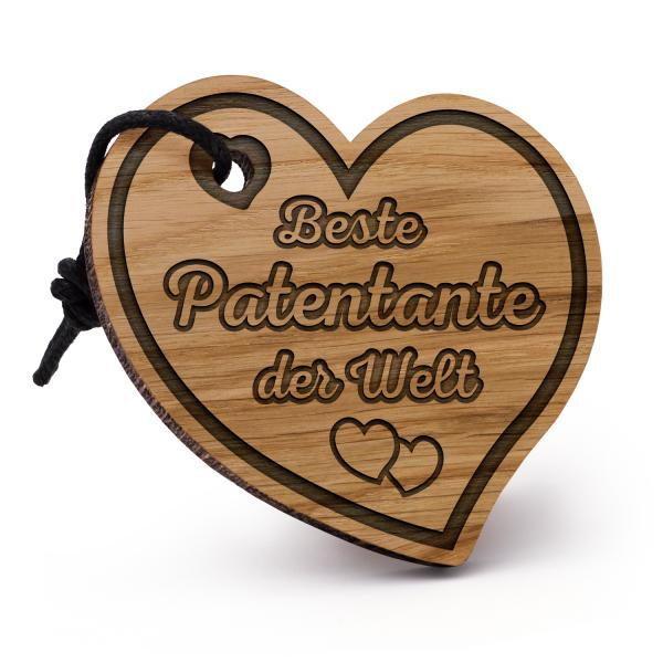 Beste Patentante der Welt - Schlüsselanhänger Herz