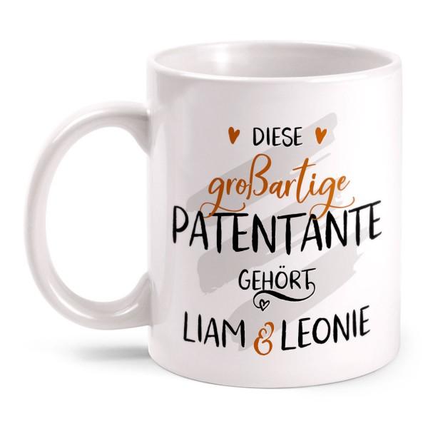 Diese großartige Patentante gehört - personalisierte Tasse