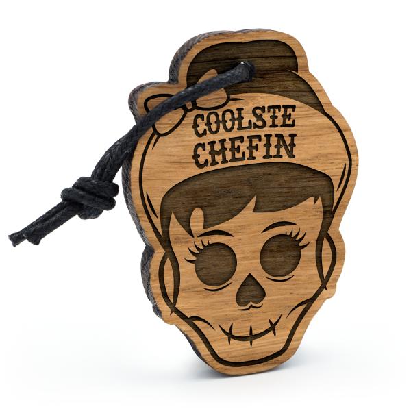Coolste Chefin - Schlüsselanhänger Totenkopf