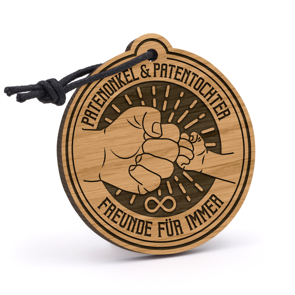 Patenonkel und Patentochter - Freunde für immer - Schlüsselanhänger