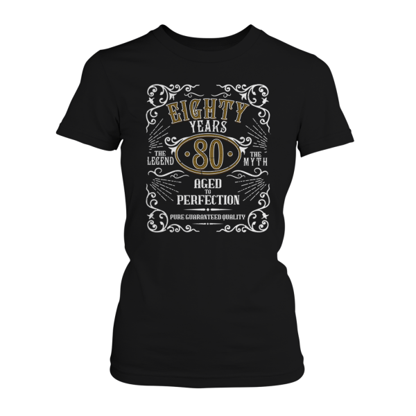Eighty Years Aged To Perfection - 80 Jahre Whiskey Label - Damen T-Shirt