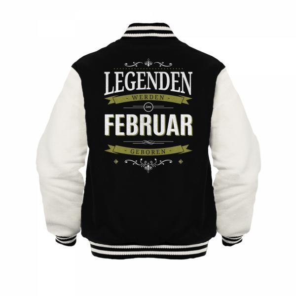 Legenden werden im Februar geboren - Herren College Jacke