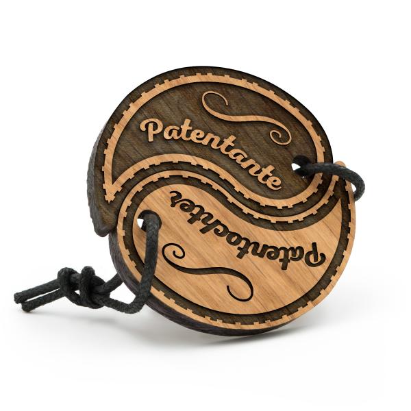 Patentante und Patentochter - Schlüsselanhänger Yin Yang