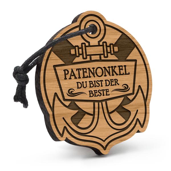 Patenonkel - Du bist der Beste - Schlüsselanhänger Anker mit Rettungsring
