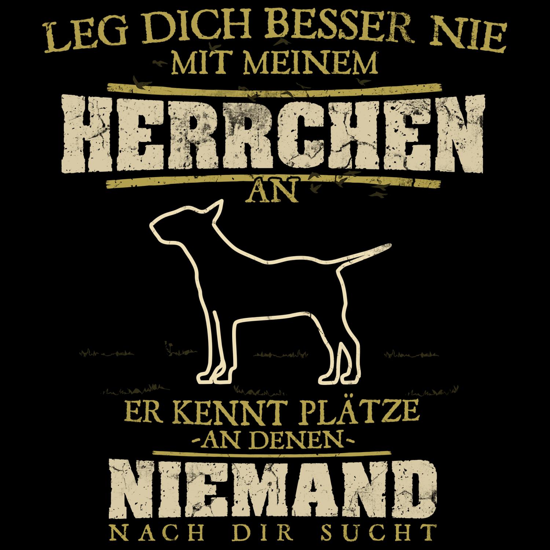 Mein Herrchen Bull Terrier Herren Kapuzen Pullover Hoodie Spruch Hunde Besitzer