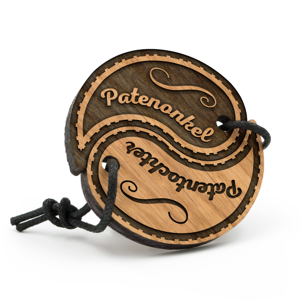 Patenonkel und Patentochter - Schlüsselanhänger Yin Yang