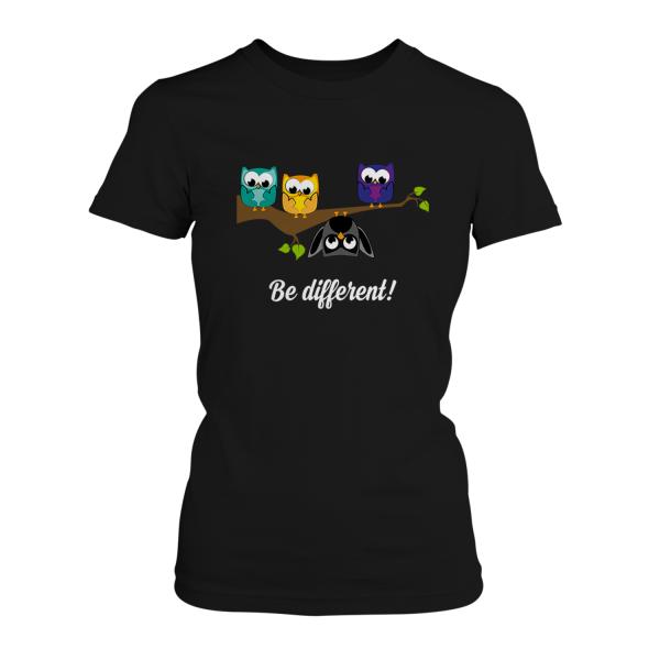 Be different! Eulen - Damen T-Shirt