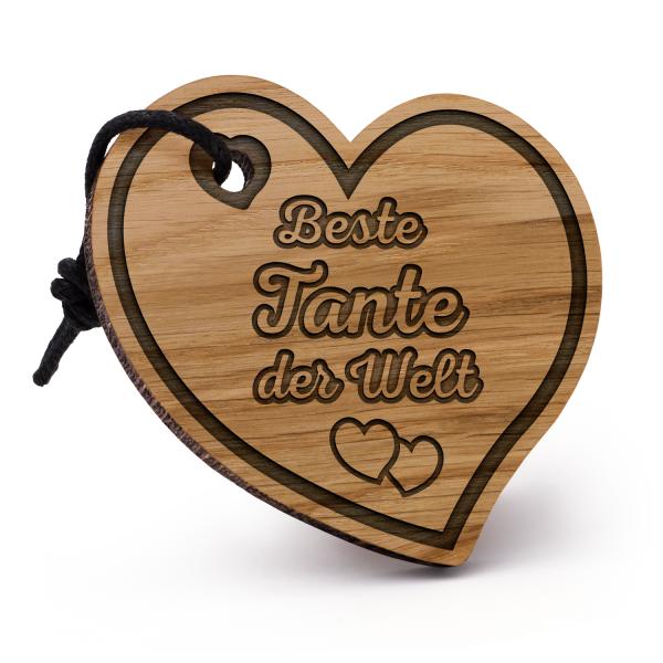 Beste Tante der Welt - Schlüsselanhänger Herz