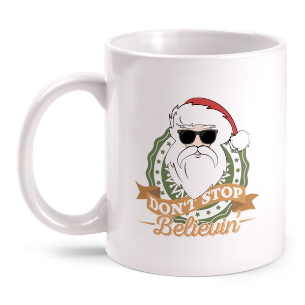 Don't Stop Believin' Santa - Tasse