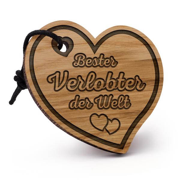 Bester Verlobter der Welt - Schlüsselanhänger Herz