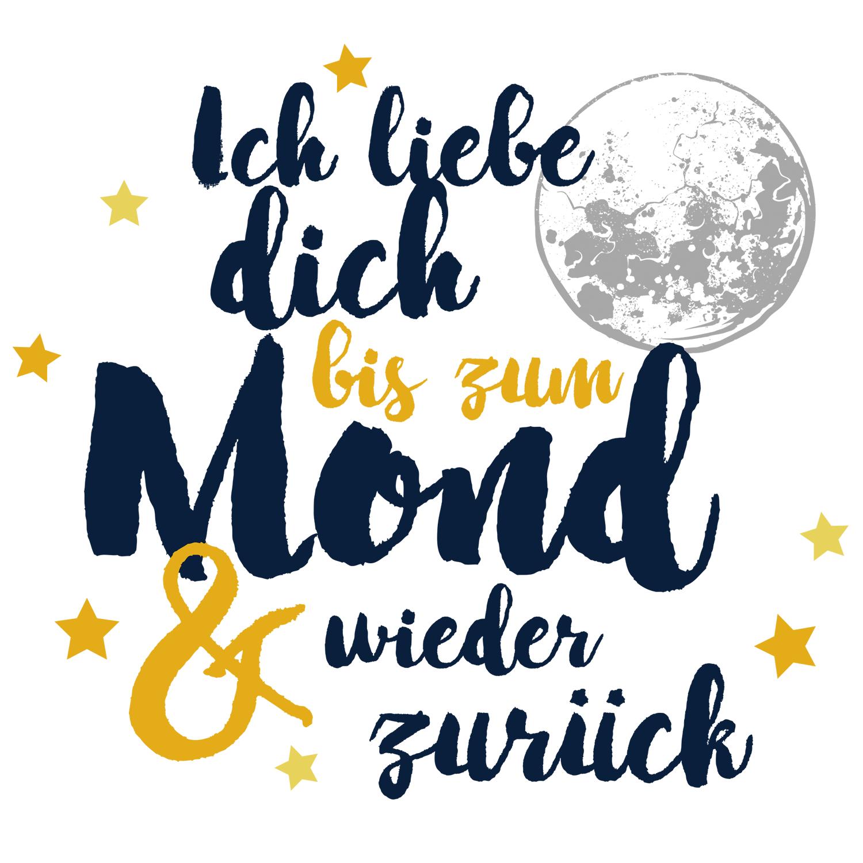 Ich liebe dich bis zum Mond & wieder zurück - Tasse