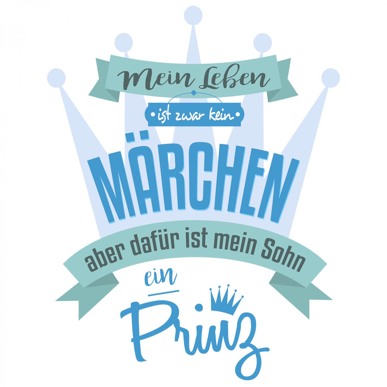 Sohn Prinz Damen T Shirt Spruch Märchen Geburtstag Geschenk