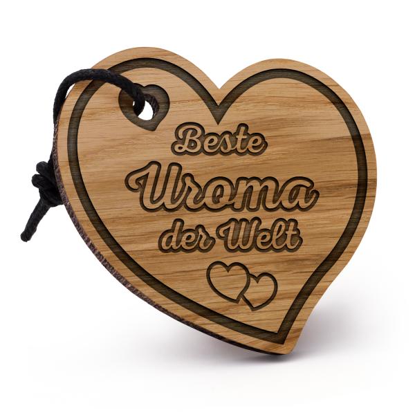 Beste Uroma der Welt - Schlüsselanhänger Herz