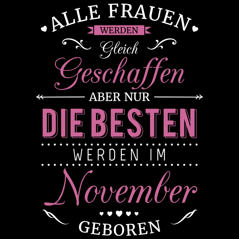 November Beutel Spruch Frauen Geburtsmonat Geburtstag Geschenk Idee Sternzeichen