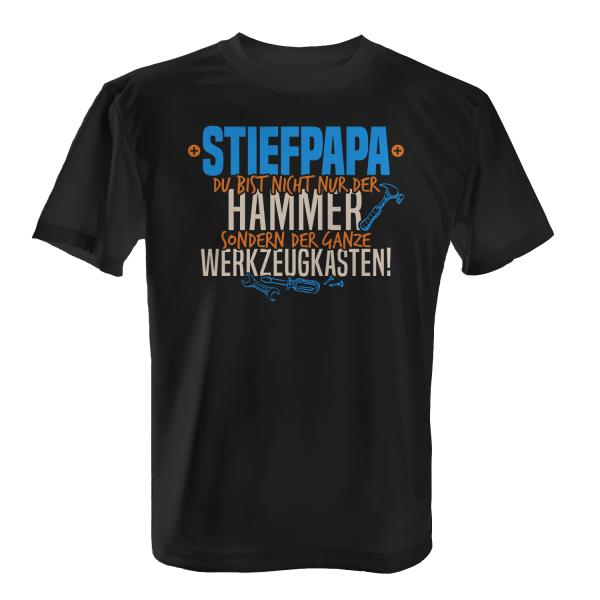 Stiefpapa - Du bist nicht nur der Hammer sondern der ganze Werkzeugkasten! - Herren T-Shirt