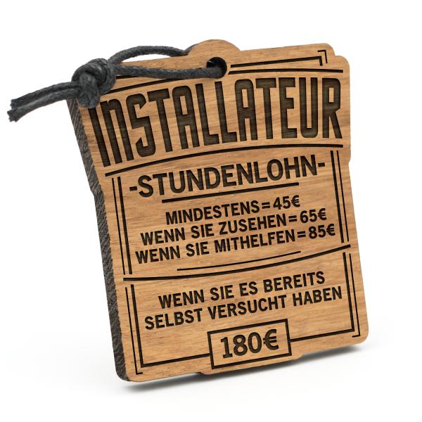 Stundenlohn Installateur - Schlüsselanhänger