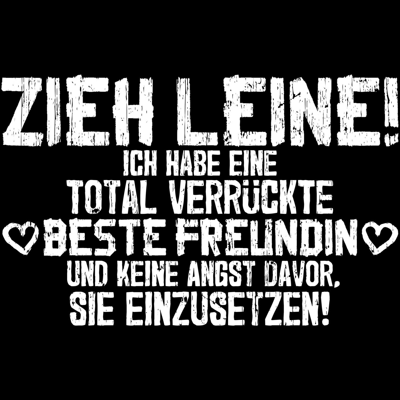 Beste Freundin Zieh Leine Turnbeutel Rucksack Spruch Geschenk Idee Freunde JGA