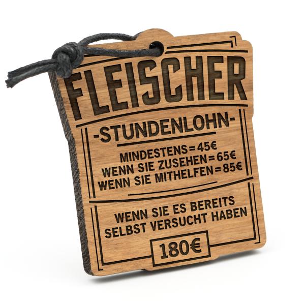 Stundenlohn Fleischer - Schlüsselanhänger