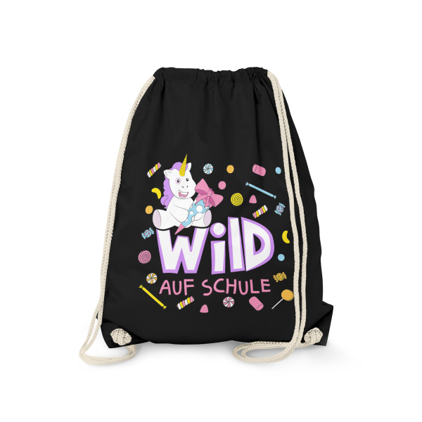 Wild auf Schule - Einhorn - Turnbeutel