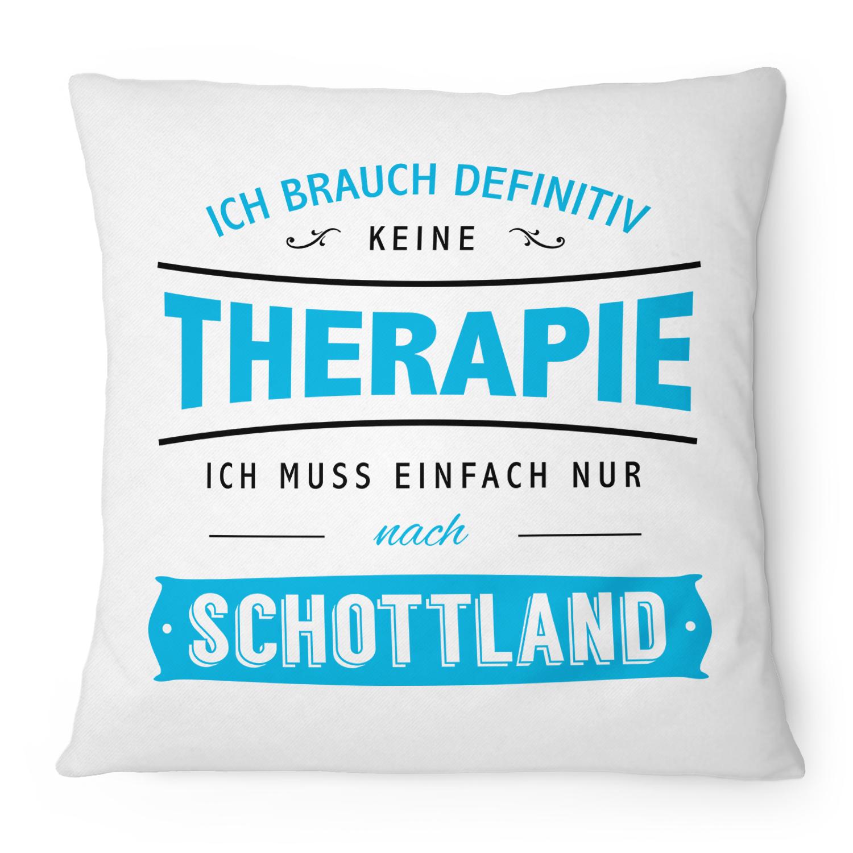 Damen T-Shirt Therapie brauch Ich nicht Urlaub muss nur nach Schottland