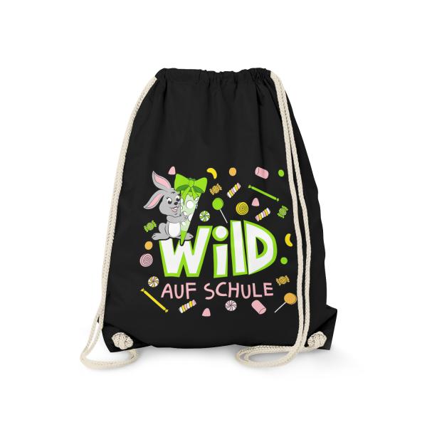 Wild auf Schule - Hase - Turnbeutel