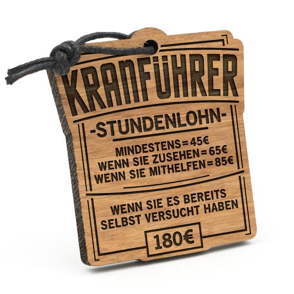 Stundenlohn Kranführer - Schlüsselanhänger