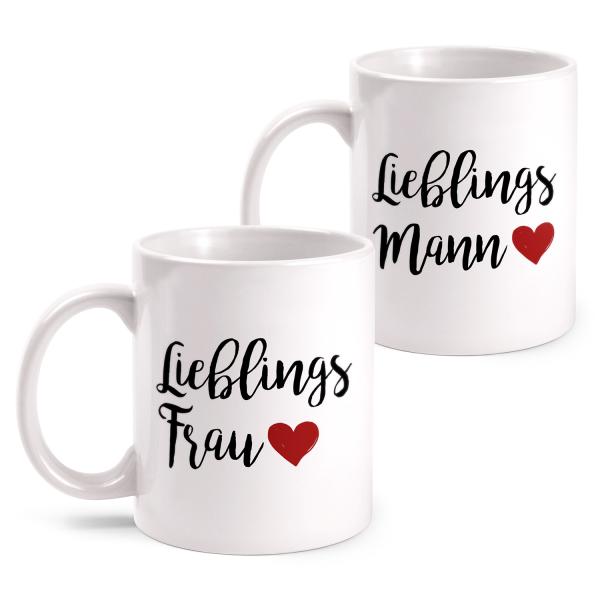 Lieblingsfrau & Lieblingsmann - Partner Tasse