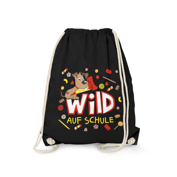 Wild auf Schule - Hund - Turnbeutel