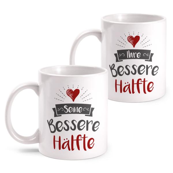 Seine bessere Hälfte & Ihre bessere Hälfte - Partner Tasse