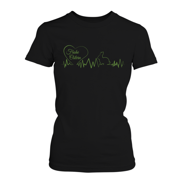 Frohe Ostern - Herzschlag Oster Hase - Damen T-Shirt