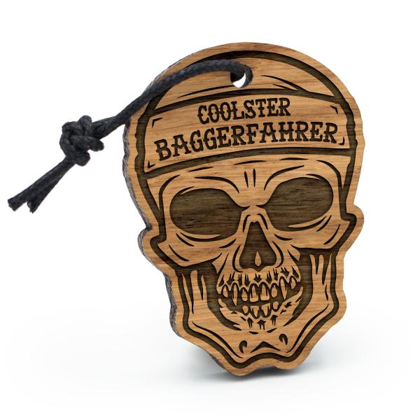Coolster Baggerfahrer - Schlüsselanhänger Totenkopf
