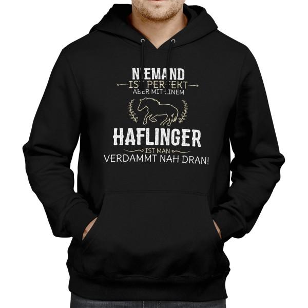 Niemand ist perfekt, aber mit einem Haflinger, ist man verdammt nah dran! - Herren Kapuzenpullover