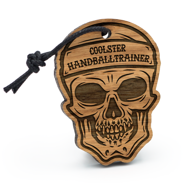 Coolster Handballtrainer - Schlüsselanhänger Totenkopf