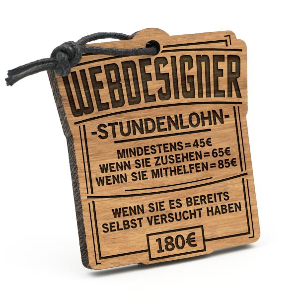 Stundenlohn Webdesigner - Schlüsselanhänger