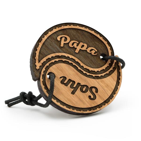 Papa und Sohn - Schlüsselanhänger Yin Yang