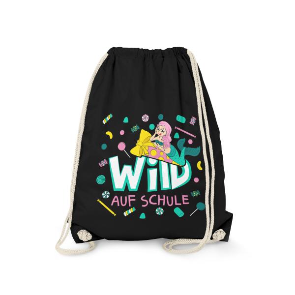 Wild auf Schule - Meerjungfrau - Turnbeutel