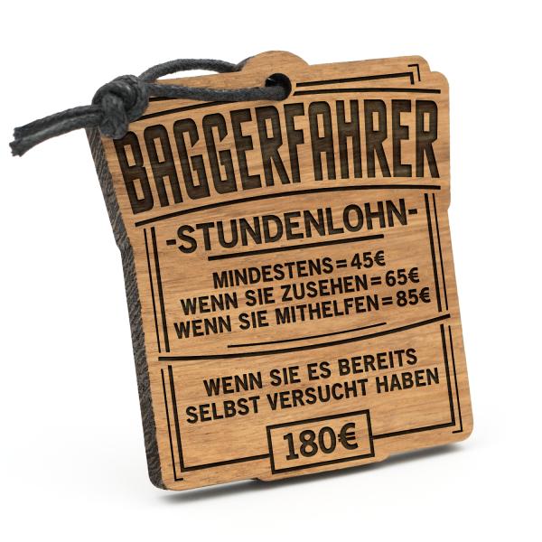 Stundenlohn Baggerfahrer - Schlüsselanhänger